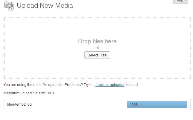 Wordpress image uploader problem