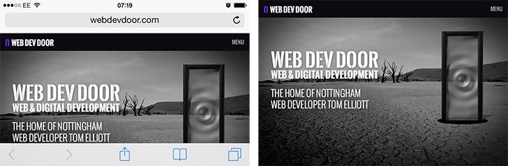Hiding browser UI bars Safari