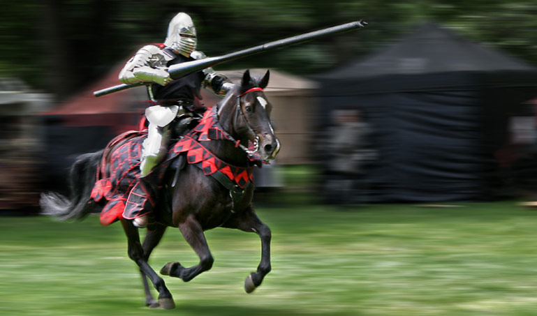 Knight jousting champion
