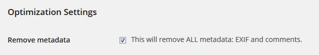 EWW remove metadata