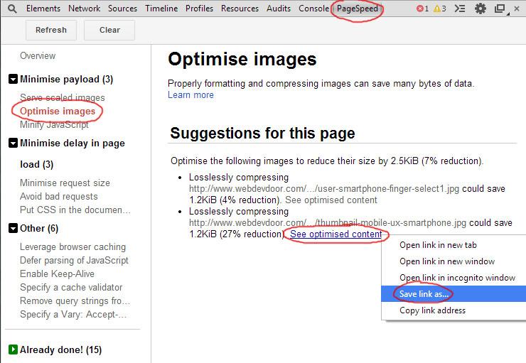 Page Speed Insights Optimised Image