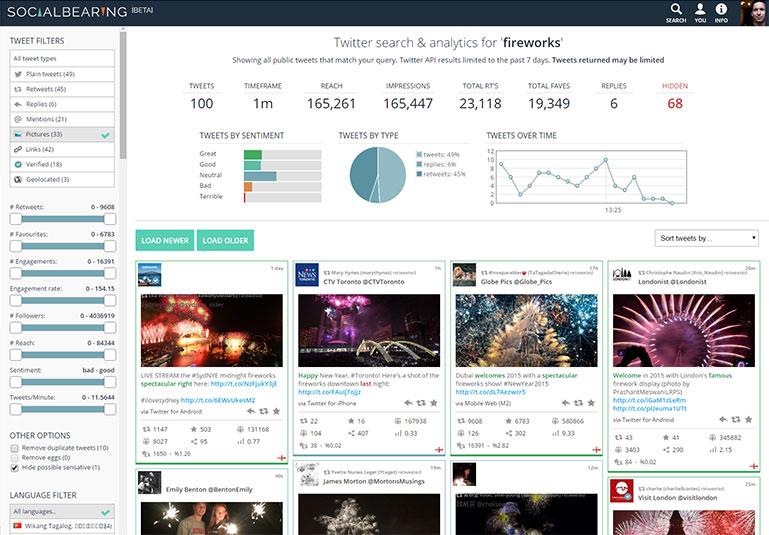Social Bearing Twitter Search